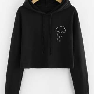 EOZ TW Hodie Cloud Crop BLACK