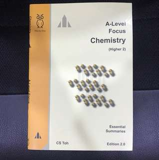 A Level H2 Chemistry Study Guide Focus CS Toh
