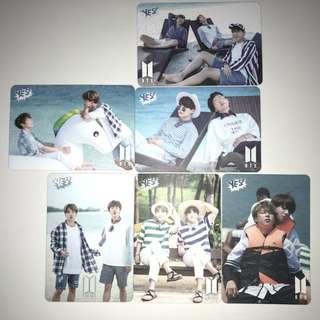 BTS Yes!專輯卡 part1 白卡
