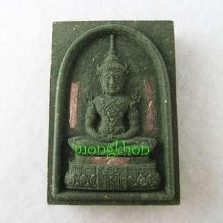 #97 Phra Kaew Emerald Buddha (Thai Jade Buddha) LP Pern Monk Wat Bangphra Temple Thai Amulet 泰国佛牌