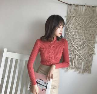 (各剩一件)韓國性感螺旋純色上衣