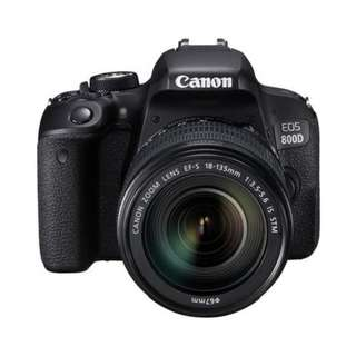 🚚 NEW Canon 800D Camera + Canon 18-135mm EFS IS STM Lens