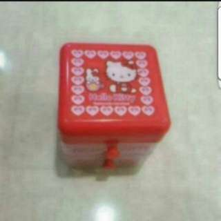 In stock Hello Kitty Mini Storage Box For Paper Clips Eraser 5 × 5cm