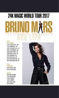 1x Bruno mars Melbourne concert