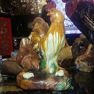 Porcelain  Chinese Vintage Chicken