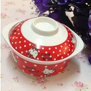 In stock hello kitty bowl with cover 100% melamine size is 11.5 × 4cm
