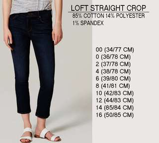 Branded LOfT Straight Crop pants