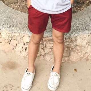 Straightforward Shorts (XS) Maroon