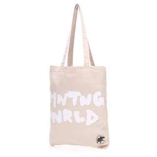 Hunting World帆布袋 單肩包 肩背包 側背袋 側肩包 手提袋 棉質包包 帆布包 購物袋