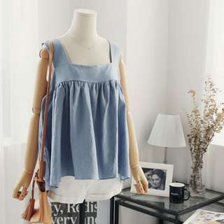 Pastel Sleeveless Babydoll Top | Plus-size available
