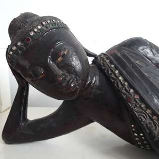 Sleeping Buddha of rare wood