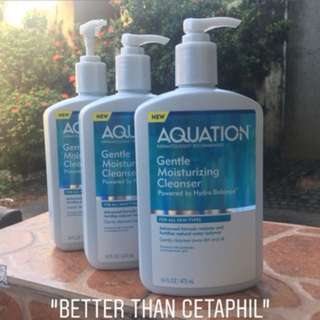 Aquation moisturizing face cleanser