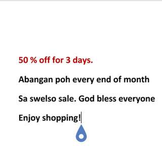 50% off for 3 days