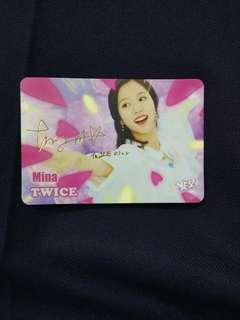 Twice Mina簽卡