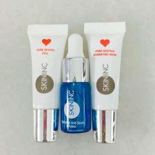 Skin Inc Hyaluronic Serum, Pure Deepsea Mask & Pure Revival Peel 5ml
