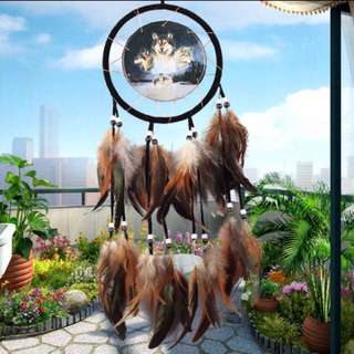 🆕Wolves gypsy Native American/Red Indian dreamcatcher (Yes Avail! NO meetups!)