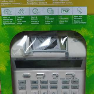 Canon calculator with printer