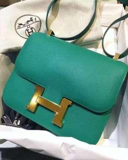 Hermes ✨Constance 23💓U4金釦😍全新現貨✨