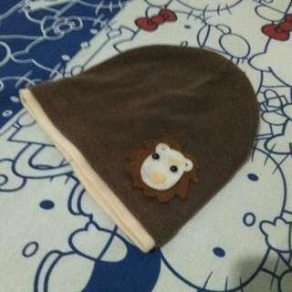 Kupluk Lion Cokelat Spandex #momratu