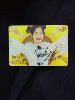 Twice多賢簽卡