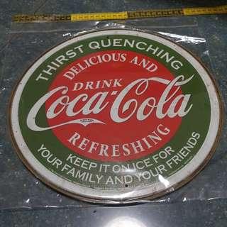 coke cola 可口可樂 鐵蓋 掛牆裝飾