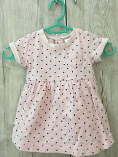 Baby Dress pink+love pattern