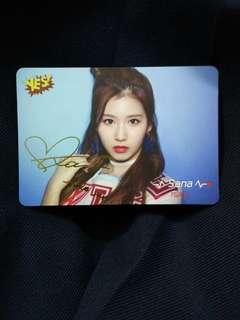 Twice Sana簽卡