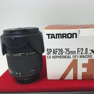 Tamron 28-75 F2.8 Nikon