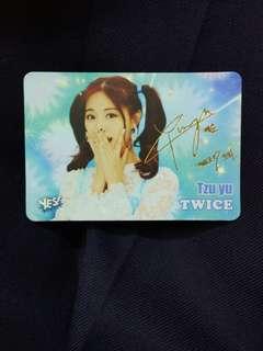 Twice 子瑜簽卡