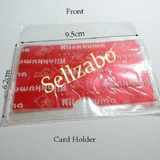Red Card Holder Pvc Slot Stationery Sellzabo