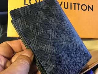 LV 男裝黑格中銀包 全新購自法國 保證真品