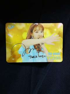 Twice Ny簽卡