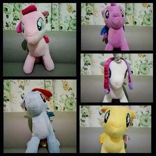 Boneka little pony (rarity, twilight sparkle, rainbow dash)