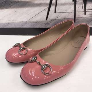 Gucci Patent Leather Flat Shoes