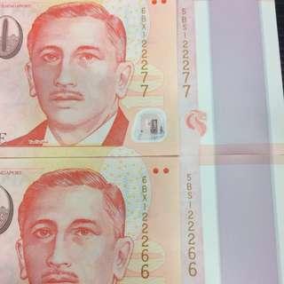 SG50 & Portrait $10 Identical UNC