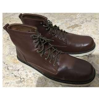 Dijual Sepatu Boots Kulit Asli Handmade
