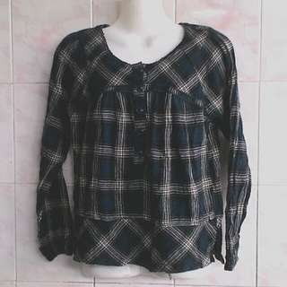 Blue blouse Flanel.