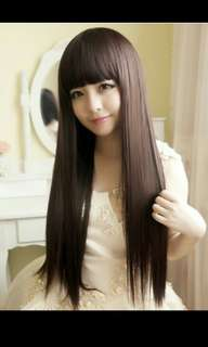 PO Neat straight bang daily long hair wig *Waiting time 12 days after payment is made *pm to order