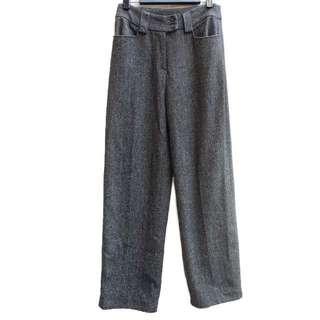 🚚 顛復古⚡️復古百搭低調深灰毛呢古著微寬褲❤️男女皆可