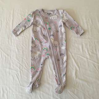 Cotton On Zip Up Sleepsuit