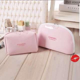 Chanel粉紅色化妝包 2款