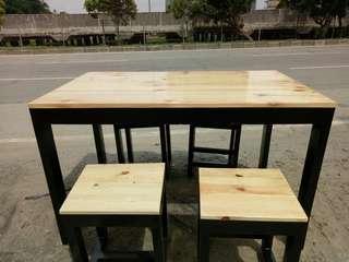 Meja cafe / meja makan / meja jati belanda murah