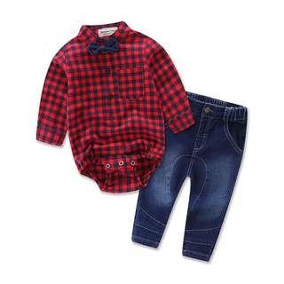 New boy shirt and pants set kids