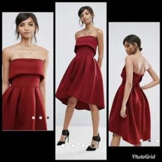 ASOS red formal dress