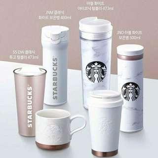 現貨{韓國星巴克代購}大理石紋保溫瓶保冷瓶 魔膳師 Korea Starbucks 500ml