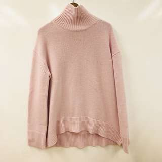 Celine pink knitted tall neck sweater size S