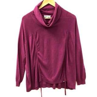 TSE purple sweater top