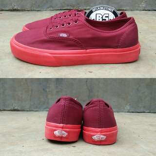 Authentic pop lite sole maroon red