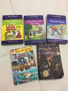 Geronimo Stilton, Evid Blyton and Harry Potter
