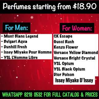 ScentedMuscle's Perfumes @ $18.90